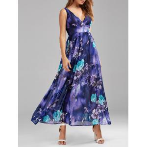 Ankle Length Maxi Floral Swing Empire Waist Dress