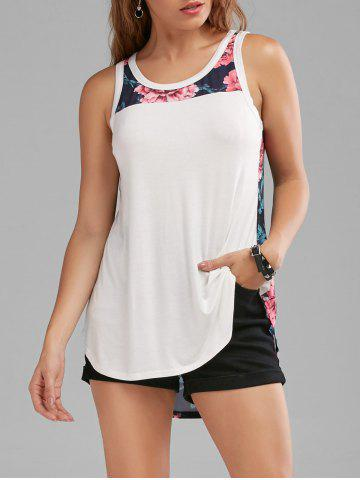 Floral Sleeveless Tunic Top