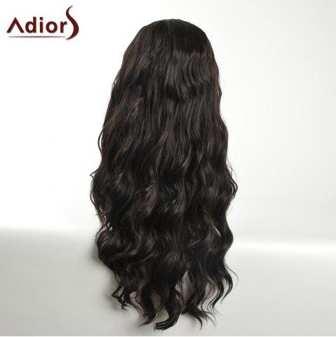 Chic Adiors Long Layered Wavy Center Part Synthetic Wig - BLACK  Mobile