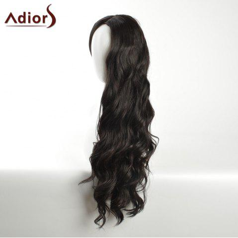 Cheap Adiors Long Layered Wavy Center Part Synthetic Wig - BLACK  Mobile