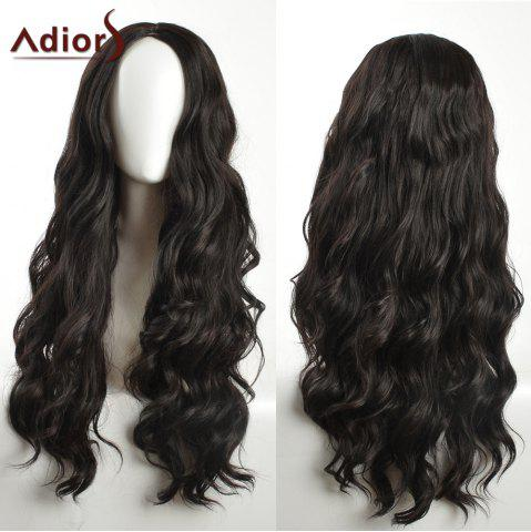 New Adiors Long Layered Wavy Center Part Synthetic Wig - BLACK  Mobile