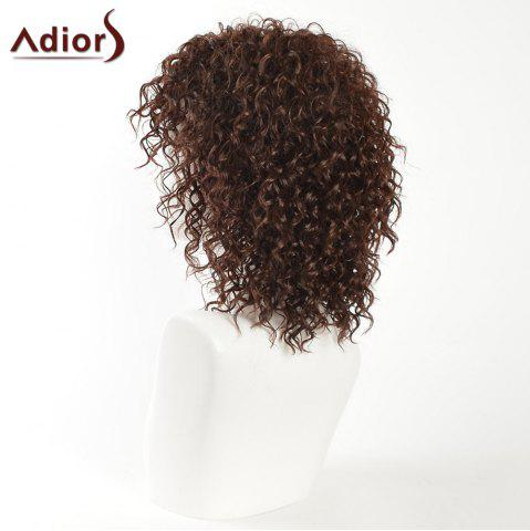 Cheap Adiors Inclined Bang Medium Shaggy Afro Curly Synthetic Wig - BROWN  Mobile