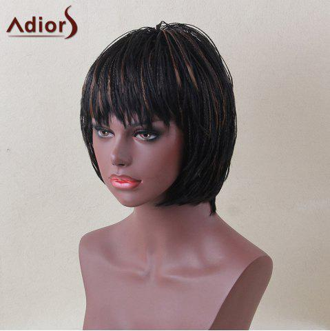 Shop Adiors Short Bob Full Bang Micro Braids Straight Colormix Synthetic Wig - COLORMIX  Mobile