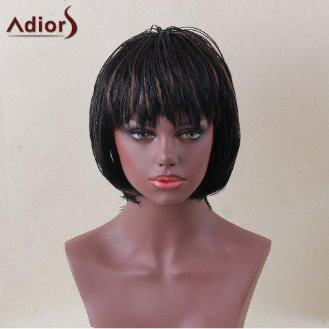Chic Adiors Short Bob Full Bang Micro Braids Straight Colormix Synthetic Wig - COLORMIX  Mobile