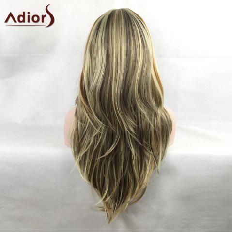 Fashion Adiors Colormix Tail Adduction Long Side Bang Silky Straight Highlight Synthetic Wig - COLORMIX  Mobile