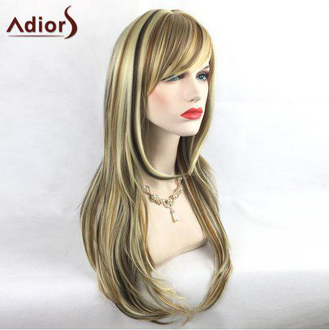 Shop Adiors Colormix Tail Adduction Long Side Bang Silky Straight Highlight Synthetic Wig - COLORMIX  Mobile