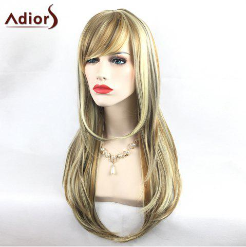 Discount Adiors Colormix Tail Adduction Long Side Bang Silky Straight Highlight Synthetic Wig - COLORMIX  Mobile