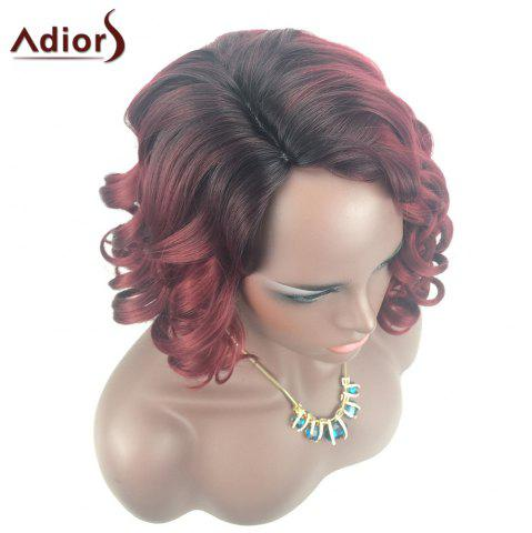 Online Adiors Color Mix Short Shaggy Side Part Curly Synthetic Wig - COLORMIX  Mobile