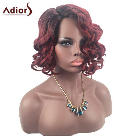 Fashion Adiors Color Mix Short Shaggy Side Part Curly Synthetic Wig - COLORMIX  Mobile