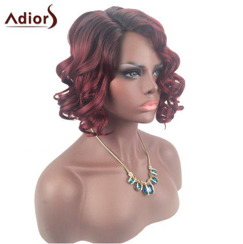 Shops Adiors Color Mix Short Shaggy Side Part Curly Synthetic Wig - COLORMIX  Mobile