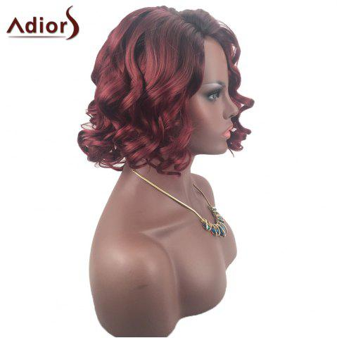 Sale Adiors Color Mix Short Shaggy Side Part Curly Synthetic Wig - COLORMIX  Mobile