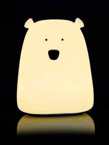 Sale Silicon Bear Color Change LED Night Light - WHITE  Mobile