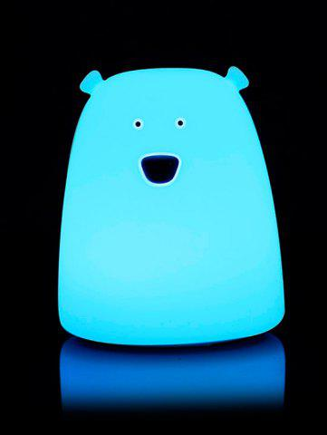Cheap Silicon Bear Color Change LED Night Light - WHITE  Mobile