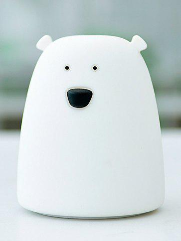 Affordable Silicon Bear Color Change LED Night Light - WHITE  Mobile