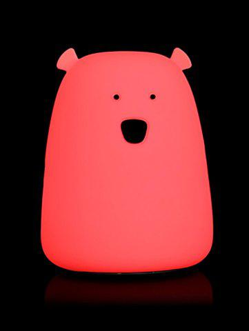 Discount Silicon Bear Color Change LED Night Light - WHITE  Mobile