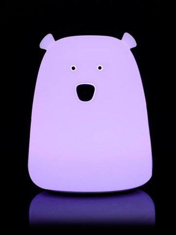Hot Silicon Bear Color Change LED Night Light - WHITE  Mobile