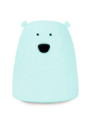 Affordable Silicon Bear Color Change LED Night Light - BLUE  Mobile
