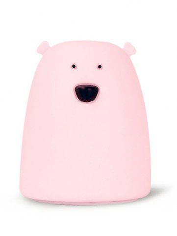 Unique Silicon Bear Color Change LED Night Light - PINK  Mobile