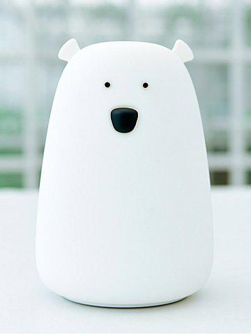 Affordable Rechargeable Bear Silicon Color Change LED Night Light - WHITE  Mobile