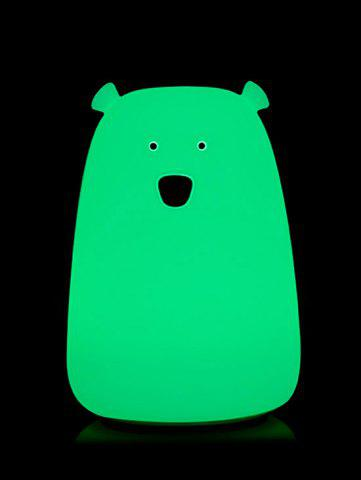 Discount Rechargeable Bear Silicon Color Change LED Night Light - WHITE  Mobile