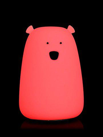Chic Rechargeable Bear Silicon Color Change LED Night Light - WHITE  Mobile