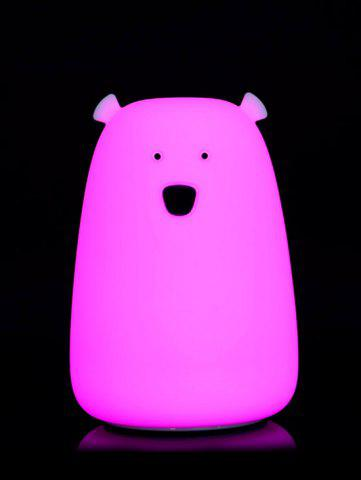 Outfit Rechargeable Bear Silicon Color Change LED Night Light - WHITE  Mobile