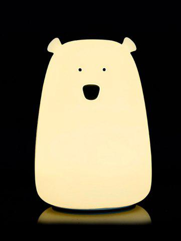 Shops Rechargeable Bear Silicon Color Change LED Night Light - WHITE  Mobile