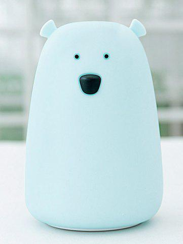 New Rechargeable Bear Silicon Color Change LED Night Light - BLUE  Mobile