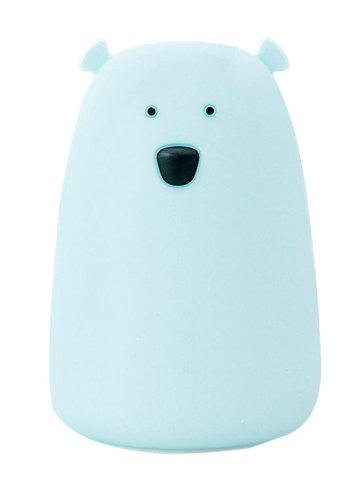 Rechargeable Bear Silicon Color Change LED Night Light - Blue - 28