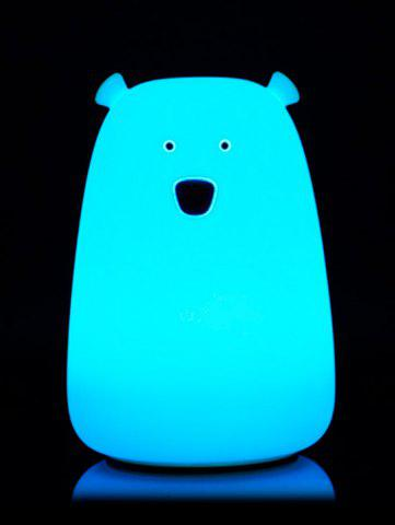 Outfit Rechargeable Bear Silicon Color Change LED Night Light - BLUE  Mobile