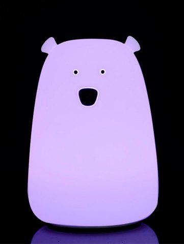 Chic Rechargeable Bear Silicon Color Change LED Night Light - PINK  Mobile