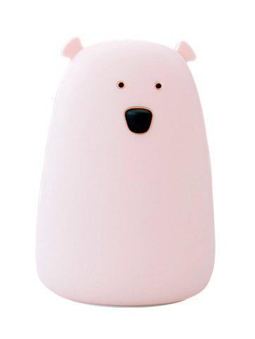 New Rechargeable Bear Silicon Color Change LED Night Light - PINK  Mobile