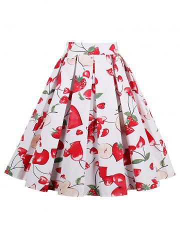 Trendy Print High Waisted A Line Skirt