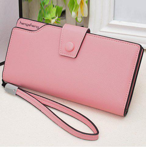 Shops Faux Leather Organizer Clutch Wallet - PINK  Mobile