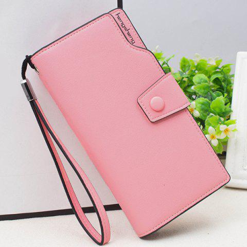 Store Faux Leather Organizer Clutch Wallet - PINK  Mobile