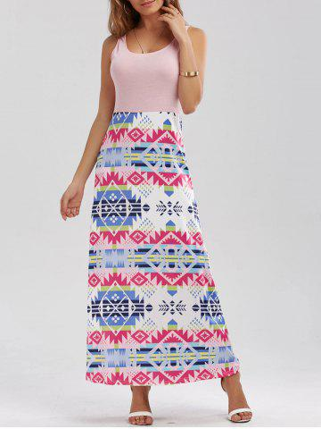 Geometric Prom Maxi Dress - Shallow Pink - S