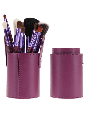 Buy 12Pcs Multipurpose Makeup Brushes Kit with Bucket - PURPLE  Mobile