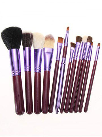 Sale 12Pcs Multipurpose Makeup Brushes Kit with Bucket - PURPLE  Mobile