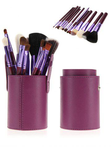Store 12Pcs Multipurpose Makeup Brushes Kit with Bucket - PURPLE  Mobile