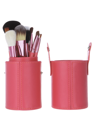Sale 12Pcs Multipurpose Makeup Brushes Kit with Bucket - PINK  Mobile