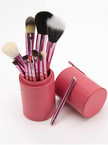 Discount 12Pcs Multipurpose Makeup Brushes Kit with Bucket - PINK  Mobile