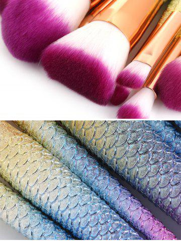 Sale MAANGE 11Pcs Mermaid Tail Makeup Brushes with Chunky Foundation Brush - SHALLOW PINK  Mobile