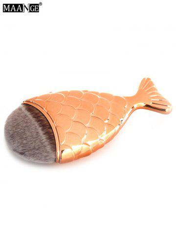 Sale MAANGE 11Pcs Mermaid Tail Makeup Brushes with Chunky Foundation Brush - ROSE GOLD  Mobile