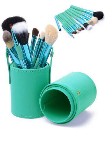 Online 12Pcs Multipurpose Makeup Brushes Kit with Bucket - GREEN  Mobile