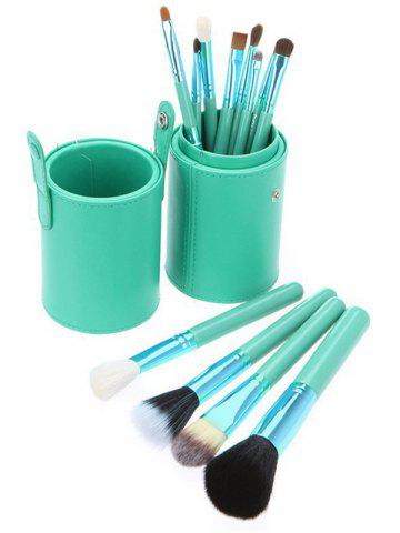 Affordable 12Pcs Multipurpose Makeup Brushes Kit with Bucket - GREEN  Mobile