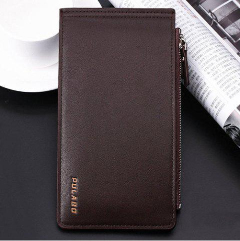 Outfit Bifold Faux Leather Organizer Wallet - COFFEE  Mobile