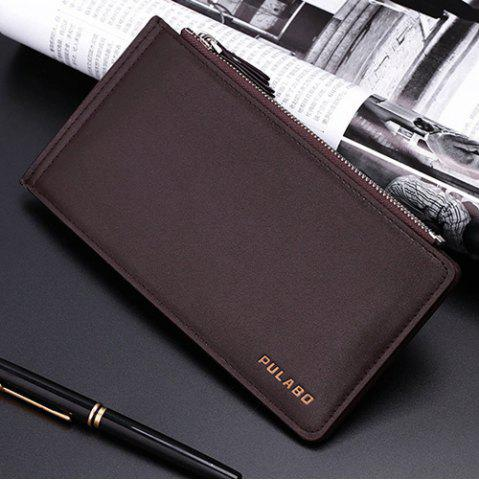 Shops Bifold Faux Leather Organizer Wallet - COFFEE  Mobile