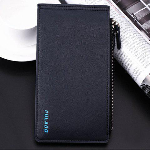New Bifold Faux Leather Organizer Wallet - DEEP BLUE  Mobile