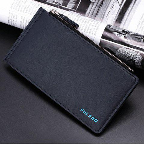 Outfit Bifold Faux Leather Organizer Wallet - DEEP BLUE  Mobile
