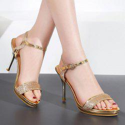 Metallic Color Glitter Sandals